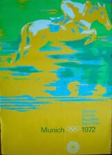 MUNICH 1972 OLYMPICS EQUESTRIAN A0 Large sized poster (33x47) OTL AICHER art