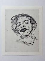 Georg Tappert (1880-1957) Kunstdruck von Lithographie von 1912: Kopf Betty