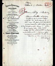 "BOLLENE (84) PRODUITS REFRACTAIRES / BRIQUES ""A. CRESPE / A. GLEIZAL"" en 1896"