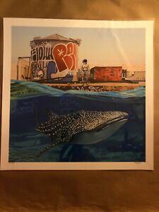 Scott Listfield Whale Pool Shark Art Print Signed AP #/6 Graffiti RARE Poster