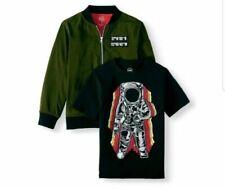 Boy's 2 Piece Wonder Nation Bomber Jacket and T-Shirt Size XL (14-16) Husky NEW