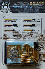 AFV Club 1/35 AG35047 NATO M68/L7 105mm Tank Ammunition (Brass)