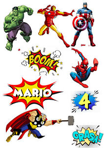Personalised Avengers Comic Cake Toppers | Icing/Wafer Paper | Edible Print