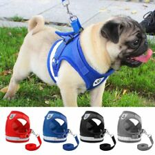 Dog Harness Reflective Walk Lead Leash Chihuahua Pug Small Mesh Puppy Cat Collar