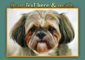 Personalised Shih Tzu Birthday, Mothers Day or Any Occasion Card + Illus Insert