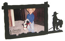 "Little Cowboy Stick Horse Picture Frame 3.5""x5"" - 3""x5"" H"