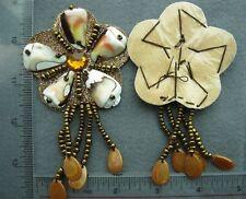Acrylic Stone Appliques, Sew on Patch Beaded Applique Shoulder Patch Motif 2pcs