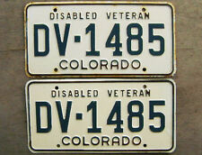 1970'S COLORADO DISABLED VETERAN LICENSE PLATE # DV-1485