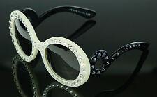 RARE NEW Genuine PRADA Ornate Ivory Black Baroque Crystal Sunglasses SPR 31P PR