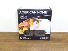 Yankee Candle American Home Pumpkin Twilight  Box of 12 Tea Lights