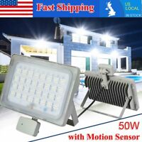 50W PIR Motion Sensor Flood Light Outdoor Waterproof LED Lights Security Lamp