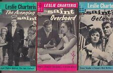 Leslie Charteris SAINT Book Lot—Avenging—Overboard—Getaway—Roger Moore—Fiction