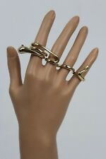 Fingers Band Long Snake Wrap Around Sexy Women Gold Metal Ring Fashion Jewelry 4