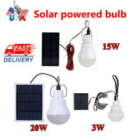Portable Outdoor Yard Tent Bulb Power Camping Light Lamp LED Solar Panel Energy