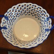 Vintage Savoir Vivre open weave porcelain bowl ...Portugal