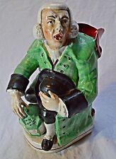 Staffordshire Pottery George WHITFIELD tipo guardiano notturno metà 19th secolo Toby