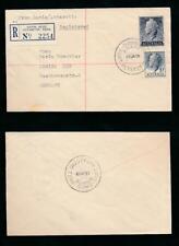 AUSTRALIAN ANTARCTIC TERRITORY 1959 REGISTERED DAVIS to GERMANY VFU