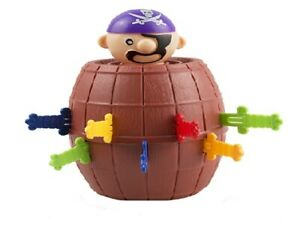 1 X PIRATE BARREL GAME Toy Funny Jumping Tricky Toy Adult Kids Party Game Gags