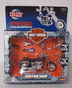 Harley Davidson Custom Shop Metal Maxx Real Die Cast Bike Dyna Low Rider 1:20
