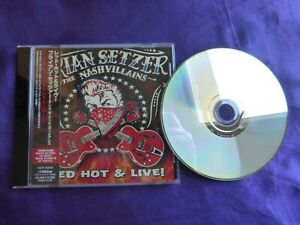 Brian Setzer & The Nashvillains Red Hot & Live ! Cd Japon 1 Titre Bonus Avec OBI