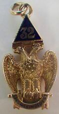 Vintage 14K 32nd Degree Masonic Double Headed Eagle Moveable Pendant 8.77 Grams