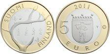 5 EURO FINLANDE 2011 UNC - PROVINCE HISTORIQUE LAPONIE