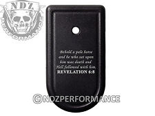 for Springfield Armory XDS 9mm 45ACP Magazine Mag Plate BK Bible Revelation 6:8