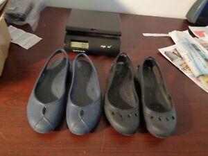 2 Pairs  Crocs Black & Blue slip on Women's 7 W