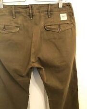 RRL Double RL Ralph Lauren Mens Officer Trousers 30 X32 Military Green