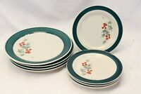 Home Holly Xmas Dinner and Salad Plates Lot of 8