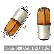 2PCS 380 Cob LED 1156 Car Luminescence Reverse Back Brake Stop Tail Light Bulbs