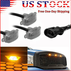 3x Smoked Lens Bumper Front Grille LED Light Raptor Style Grill For Ford Toyota