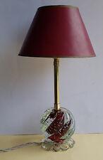 Murano Tischlampe Lampe Kugel mit eingestochenen Luftblasen 60er Jahre