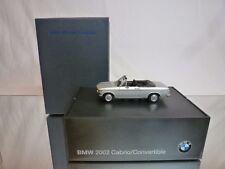 MINICHAMPS BMW 2002 CABRIOLET  - SILVER 1:43 - EXCELLENT IN BOX