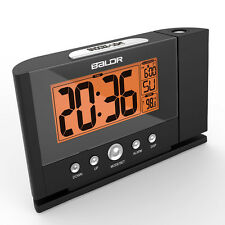 LCD Projection Digital Weather Snooze Alarm Clock Color Display w/ LED Backlight