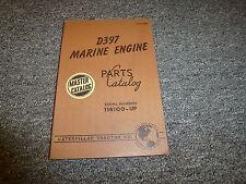 Caterpillar Cat Model D397 Marine Engine Parts Catalog Manual Book S/N 11B100-Up