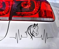 Pferde Aufkleber Herz Schlag Pferd Kopf Auto Sticker Heart Beat Tiere Horse love