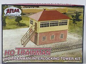Atlas Trainman Interlocking Tower Building Model Kit HO 717