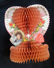 Old Fold Out Honeycomb Honey Comb Die Cut Valentine To My Sweetheart Embossed