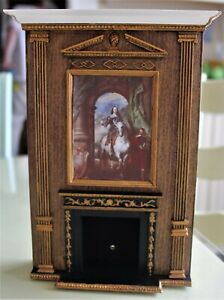 BESPAQ VINTAGE CHIMNEY BREAST AND FIREPLACE 1:12