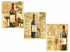 3 Wine Grape Art Prints Tuscany Posters Kitchen Decor Art Poster Print by Ron Je