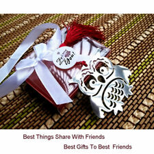 Silver Tone Owl Alloy Bookmark Book Mark With Ribbon Box For Kids Reading Gifts