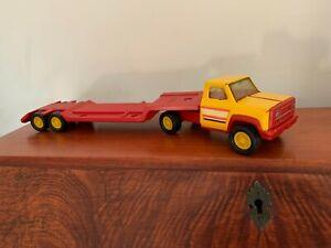 Vintage Tonka Lowboy Truck Pressed Steel & Hard Plastic 1970's/80's Tonka Rare