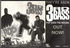 15/6/91 Pgn41 Advert: 3rd Bass pop Goes The Weasel Out Now On Def Jam 7x11