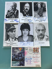 Secret Army Signed Autographed Cover RAF + Kessler cast photos RARE Signed x 15