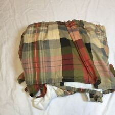 King Sized Bed Skirt Chaps Hudson River Valley Plaid Flannel Cotton