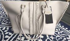 Lionel Celeste Vegan Tote Handbag Purse, Tan/Beige/White