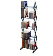 Atlantic Mitsu 5-Tier Media Rack - 130 CD or 90 DVD/BluRay/Games in a Space S...