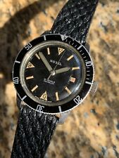 Vintage Nobel Swiss Made Mens Diver Watch Steel ETA 2472 37,5mm Lovely!!