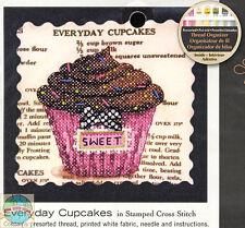 Cross Stitch Mini Kit ~ Dimensions Sweet Everyday Cupcakes Recipe #70-65123